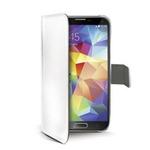 CELLY Wally pouzdro typu kniha pro Apple iPhone SE, 5, 5S / PU kůže / bílé (WALLY185WH)