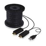 PremiumCord HDMI kabel po optickém vlákně / M/M zlacené konektory / 100m / černý (8592220012014)