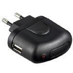 PremiumCord Napájecí a nabíjecí adaptér 230V na USB, 1A, černý (4040849440045)