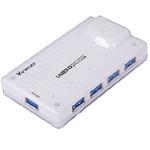 PremiumCord USB 3.0 Superspeed HUB 4-portový s napájením (8592220010386)