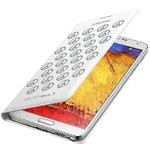 Samsung flipové pouzdro s kapsou pro Samsung Galaxy Note 3 (N9000/N9005) / edice Moschino / bílo-stříbrná (EF-EN900BSEGWW)