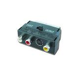 Gembird redukce SCART / 3 CINCH (RCA) + 1 S-Video (přepínatelná IN/OUT) (CCV-4415)