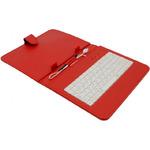 AIREN AiTab Leather Case 2 kožené pouzdro pro 8 tablet / s USB klávesnicí / CZ / SK / červené (Leather Case 2 8R)