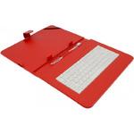 AIREN AiTab Leather Case 4 kožené pouzdro pro 10 tablet / s klávesnicí USB / CZ / SK / červené (Leather Case 4 10R)