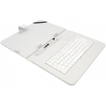 AIREN AiTab Leather Case 4 kožené pouzdro pro 10 tablet / s klávesnicí USB / CZ / SK / bílé (Leather Case 4 10W)