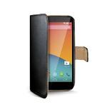 CELLY pouzdro typu kniha Wally pro LG Nexus 5 / PU kůže / černá (WALLY371)