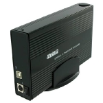 4World Box na externí HDD 3.5 IDE/SATA na USB / Alu Black (05296)