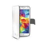 CELLY Wally pouzdro typu kniha pro Samsung Galaxy S5 mini / PU kůže / bílá (WALLY422WH)