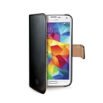 CELLY Wally pouzdro typu kniha pro Samsung Galaxy S5 mini / PU kůže / černá (WALLY422)