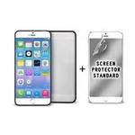 Puro ochranný rámeček Bumper Cover pro iPhone 6 Plus / 5,5 / s ochrannou fólií / černá (IPC655BUMPERBLK)