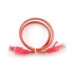 Gembird UTP CAT5E 0.5m / patch kabel / s ochranou / červená (PP12-0.5M/R)