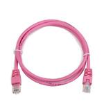 Gembird UTP CAT5E 1m / patch kabel / s ochranou / růžová (PP12-1M/RO)
