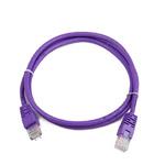 Gembird UTP CAT5E 1m / patch kabel / s ochranou / fialová (PP12-1M/V)