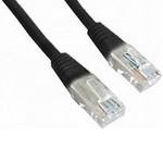 Gembird UTP CAT5E 2m / patch kabel / s ochranou / černá (PP12-2M/BK)