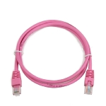 Gembird UTP CAT5E 2m / patch kabel / s ochranou / růžová (PP12-2M/RO)
