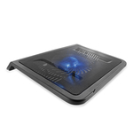 4World chladicí podložka pro notebooky 17 / 1x 160mm ventilátor / LED podsvícení / Černá (07634)