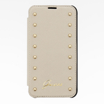 Guess Studded Folio kožené pouzdro pro Apple iPhone 6 Plus / cream / výprodej (20949)