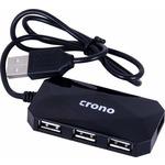 Crono USB HUB / 4 portů / USB 2.0 / černý (U1318)