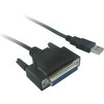 PremiumCord konvertor USB 2.0 - paralelní kabel DB25F (kuprint2)