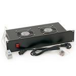 Triton 19 horizontální ventilační jednotka / 2 ventilátory / 2U / 220 V / 30 W / bimetalový termostat (RAB-CH-X01-A1)