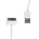Whitenergy datový a napájecí kabel iPhone 4 / USB 2.0 M - iPhone 4 M / 30cm / bílý (09972)