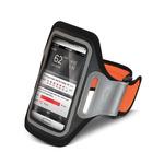 CELLY Sportovní neoprénové pouzdro velikost XXL / pro Samsung Galaxy S4 a telefony podobných rozměrů / oranžová (AIRBAND02)