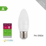 WHITENERGY LED žárovka SMD2835 C37 / E27 / 5W / bílá mléčná (09834)