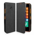 SBS pouzdro typu kniha pro Nokia Lumia 635 a Nokia Lumia 630 / magnetické zavírání / černá (TEBOOKNOL635K)