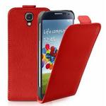 SBS Flipové pouzdro pro Samsung Galaxy S4 (I9505) / magnetické zavírání / červená (TEFLIPPUS4R)