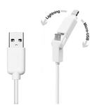 SBS datový kabel pro Apple / USB na microUSB + Lightning / iPhone / iPad / iPod / 1m / bílý (TTCABLEUSBIP5MICW)