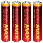 KODAK MAX alkalická baterie AAA / 4ks / blister (30952812)