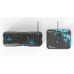 E-Blue Polygon Set / Klávesnice+myš+podložka / herní drátový set / USB / US / modrá (YCEBUS75BU)