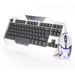 E-Blue Auroza Set / Klávesnice+myš / herní drátový set / USB / US / bílá (YCEBUG81TU)