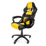 AROZZI MONZA herní židle / 115-125cm / PU kůže / černo-žlutý (MONZA-YL)