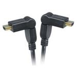 AKASA AK-CBHD11-20BK / HDMI propojovací kabel / pozlacené konektory / otočné hlavice / 2m (AK-CBHD11-20BK)
