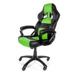 AROZZI MONZA herní židle / 115-125cm / PU kůže / černo-zelený (MONZA-GN)