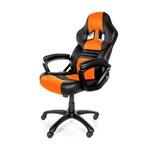 AROZZI MONZA herní židle / 115-125cm / PU kůže / černo-oranžový (MONZA-OR)