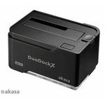 AKASA AK-DK03W3-BK DuoDock X WiFi / dokovací stanice pro HDD / Wi-Fi / USB 3.0 / černá (AK-DK03W3-BK)