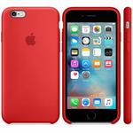 APPLE originální silikonový zadní kryt pro Apple iPhone 6S / červený (PRODUCT)RED (MKY32ZM/A)