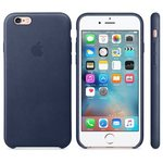 APPLE originální kožený zadní kryt pro Apple iPhone 6S / modrý (MIDNIGHT) (MKXU2ZM/A)