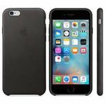 APPLE originální kožený zadní kryt pro Apple iPhone 6S / černý (MKXW2ZM/A)
