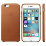 APPLE originální kožený zadní kryt pro Apple iPhone 6S Plus / hnědý (SADDLE) (MKXC2ZM/A)