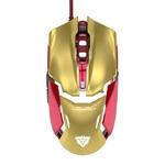E-BLUE myš IRON MAN 3 Armor / optická / drátová / 6 tlačítka + kolečko / 4000 dpi / zlatý / výprodej (MMEBE61UGZ00) - E-Blue Iron Man Armor EMS610GOAA-EU