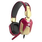 E-Blue IRON MAN 3 / herní sluchátka s mikrofonem / USB+3.5mm konektor / červený (QMEBM98RGR)