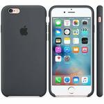 APPLE originální silikonový zadní kryt pro Apple iPhone 6S / šedý (CHARCOAL GRAY) (MKY02ZM/A)
