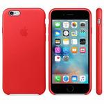 APPLE originální kožený zadní kryt pro Apple iPhone 6S / červený (PRODUCT) RED (MKXX2ZM/A)