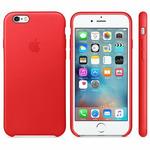 APPLE originální kožený zadní kryt pro Apple iPhone 6S Plus / červený (PRODUCT) RED (MKXG2ZM/A)