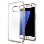 Spigen Ultra Hybrid / ochranný kryt pro Samsung Galaxy S7 / růžový/průhledný (555CS20010)