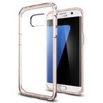 Spigen Ultra Hybrid / ochranné kryt pro Samsung Galaxy S7 Edge / růžový/průhledný (556CS20035)