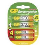 GP Nabíjecí baterie AA+AAA 2700+800mAh / NiMH / 4+4ks (1032214080)
